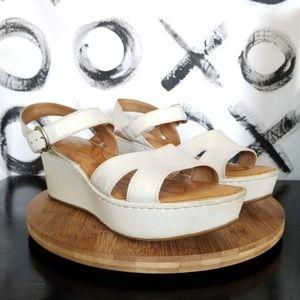 Born Platform Sandal Leather Ankle Strap